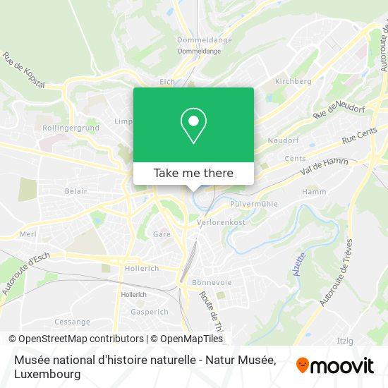 Musée national d'histoire naturelle - Natur Musée map