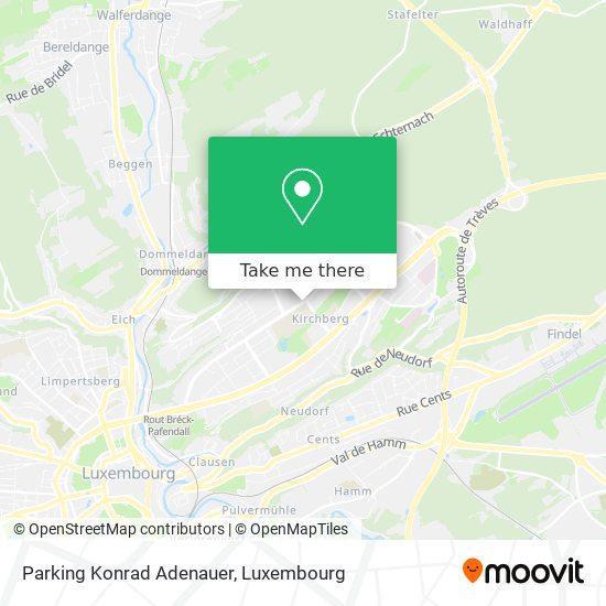 Parking Konrad Adenauer map