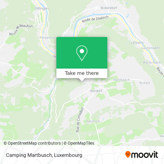 Camping Martbusch map