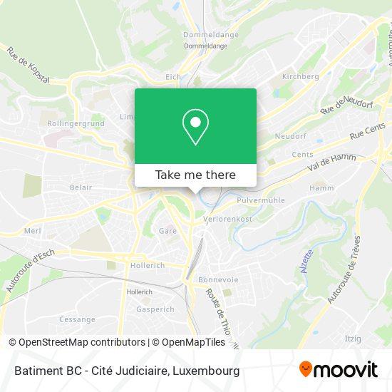 Batiment BC - Cité Judiciaire map