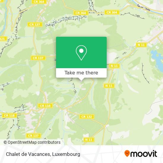 Chalet de Vacances map