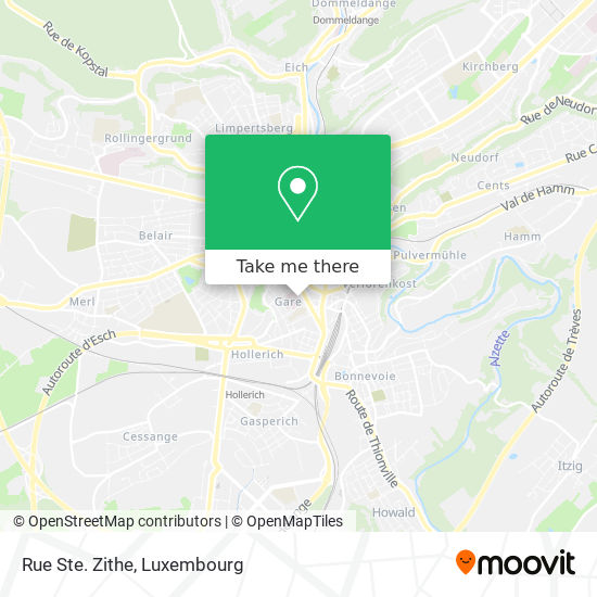 Rue Ste. Zithe map