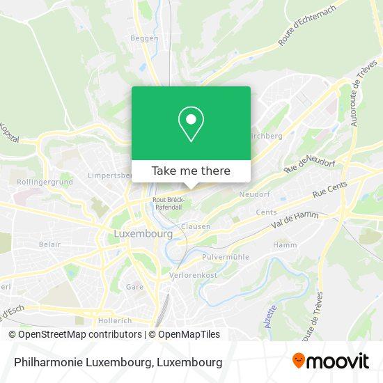 Philharmonie Luxembourg map