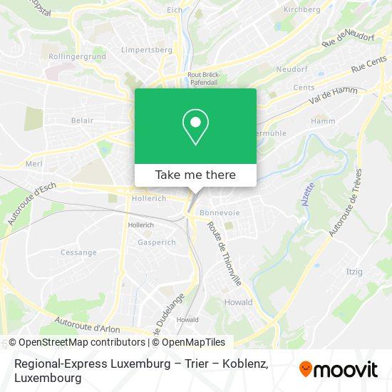 Regional-Express Luxemburg – Trier – Koblenz map