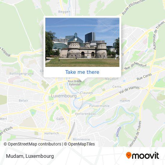 Mudam map