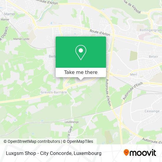 Luxgsm Shop - City Concorde map