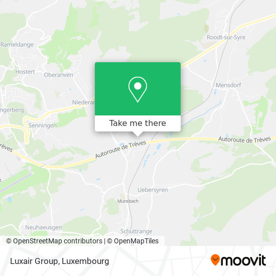 Luxair Group map