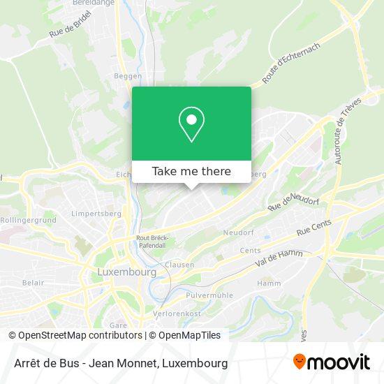 Arrêt de Bus - Jean Monnet map