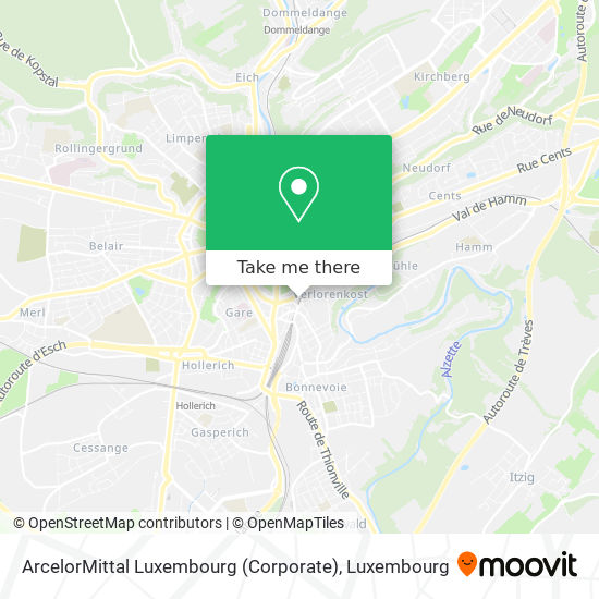 ArcelorMittal Luxembourg (Corporate) map