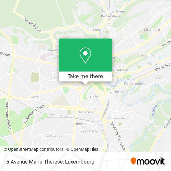 5 Avenue Marie-Thérèse map