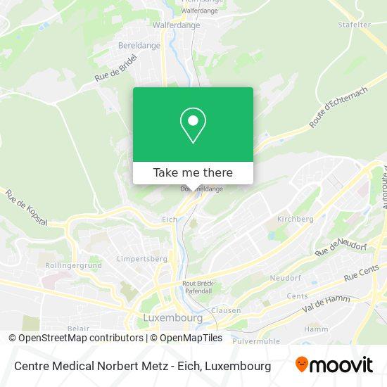 Centre Medical Norbert Metz - Eich map