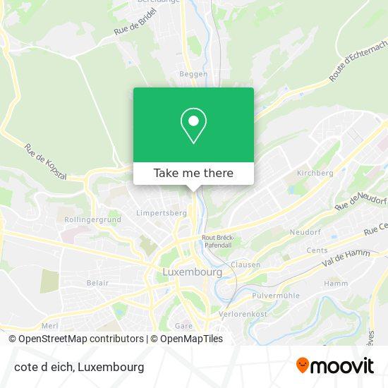 cote d eich map