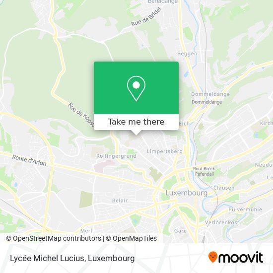 Lycée Michel Lucius map
