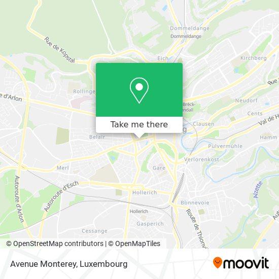 Avenue Monterey map