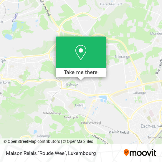 "Maison Relais ""Roude Wee"" map"