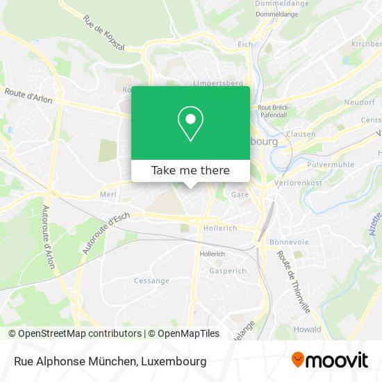 Rue Alphonse München map