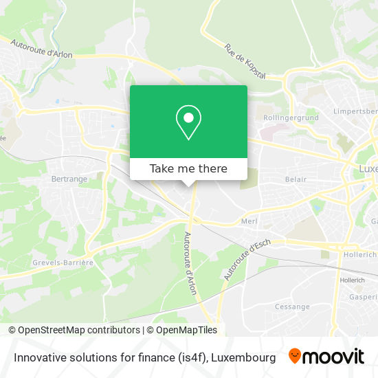 Innovative solutions for finance (is4f) map