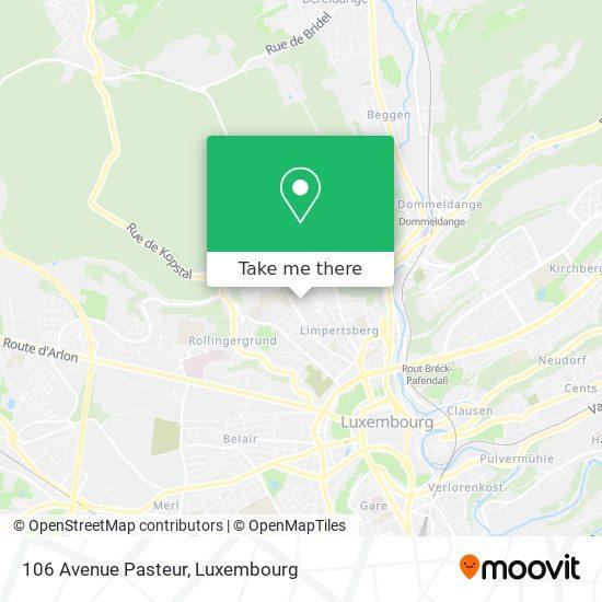 106 Avenue Pasteur map