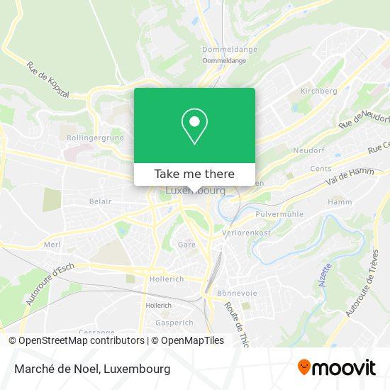 Marché de Noel map
