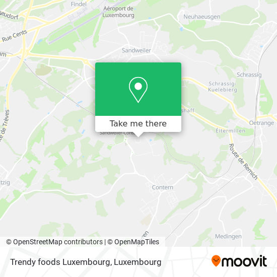 Trendy foods Luxembourg map