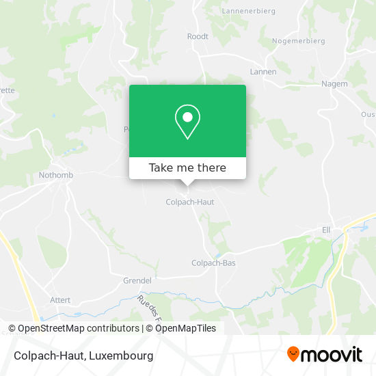 Colpach-Haut map