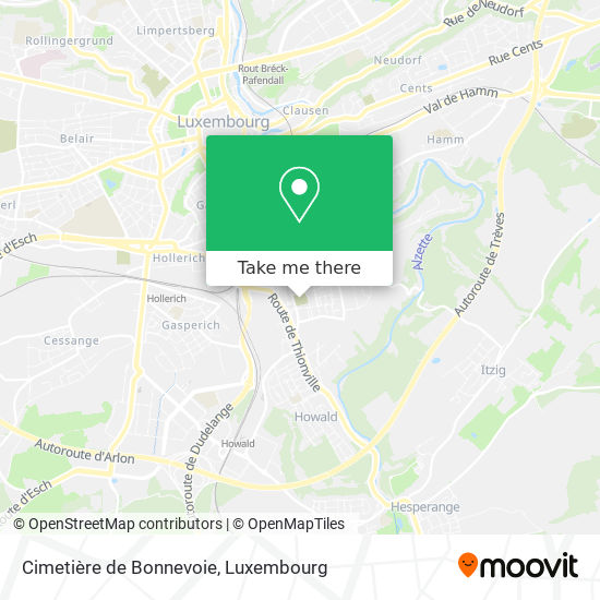 Cimetière de Bonnevoie map