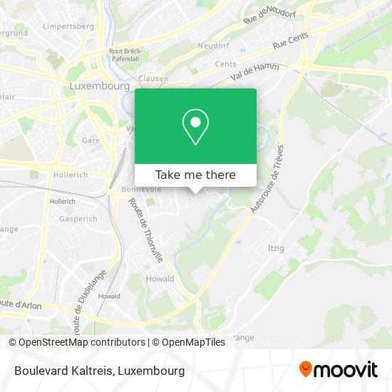 Boulevard Kaltreis map