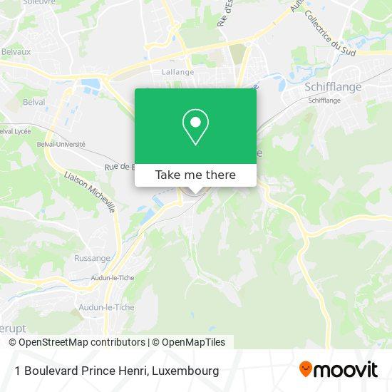 1 Boulevard Prince Henri map
