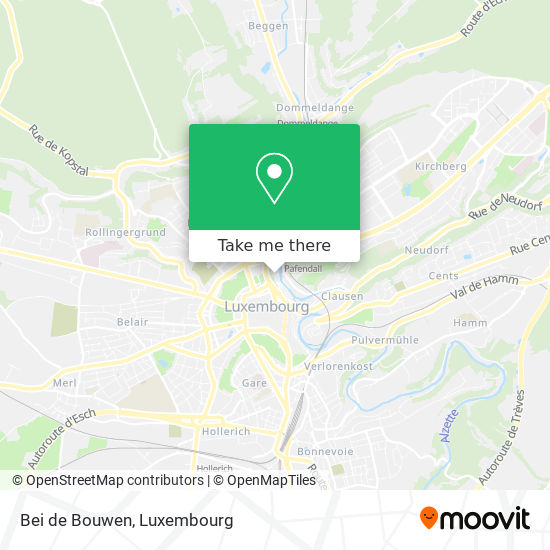 Bei de Bouwen map