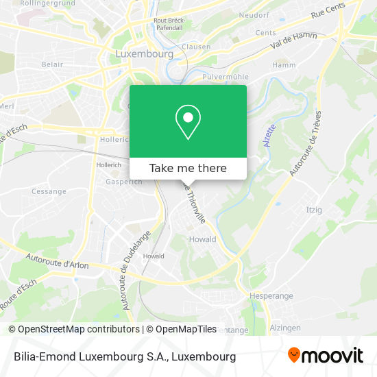 Bilia-Emond Luxembourg S.A. map