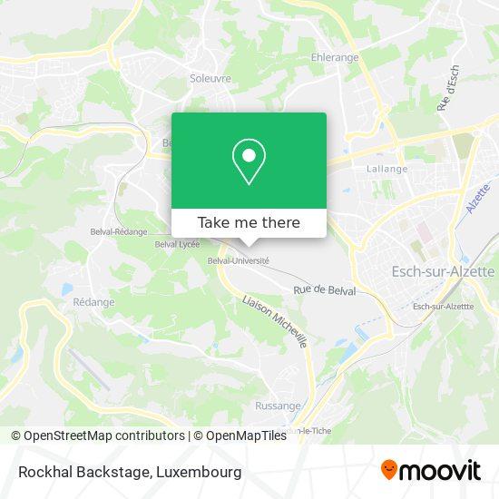 Rockhal Backstage map