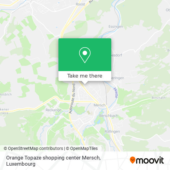 Orange Topaze shopping center Mersch map