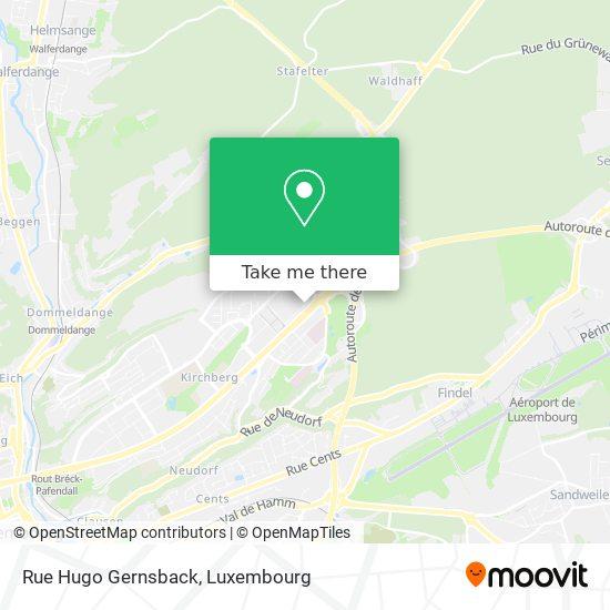Rue Hugo Gernsback map