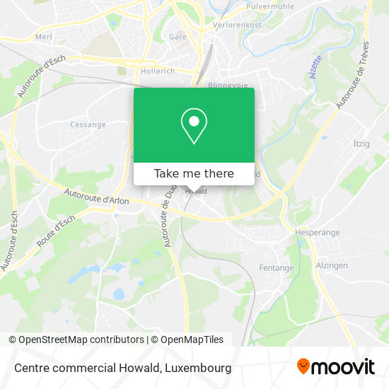 Centre commercial Howald map