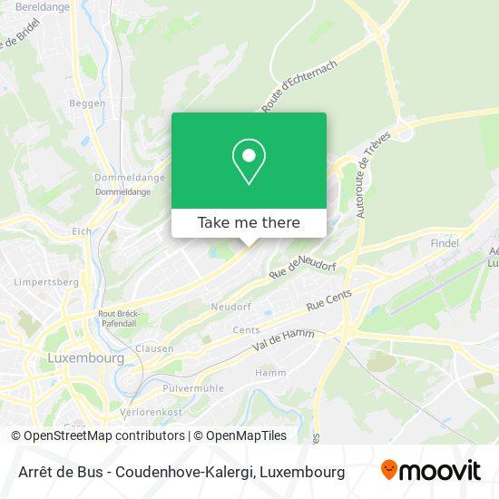 Arrêt de Bus - Coudenhove-Kalergi map