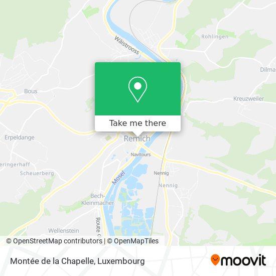 Montée de la Chapelle map