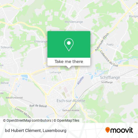 bd Hubert Clément map