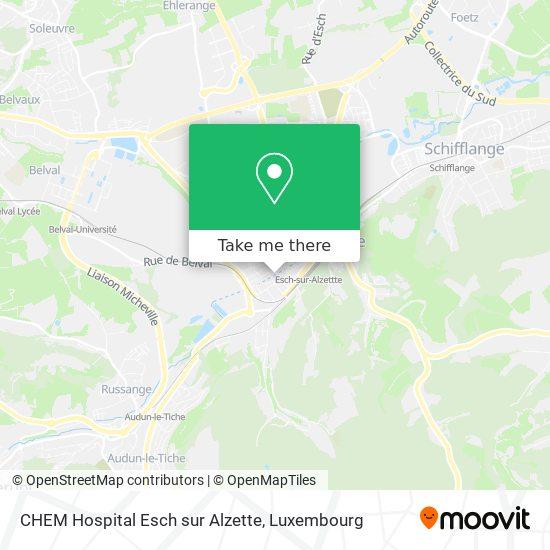 CHEM Hospital Esch sur Alzette map