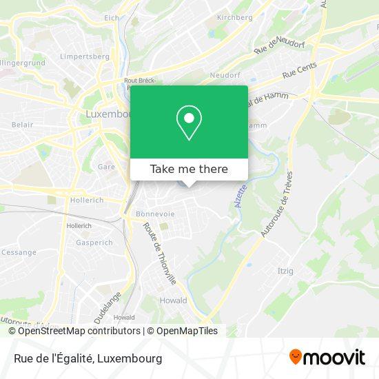 Rue de l'Égalité map