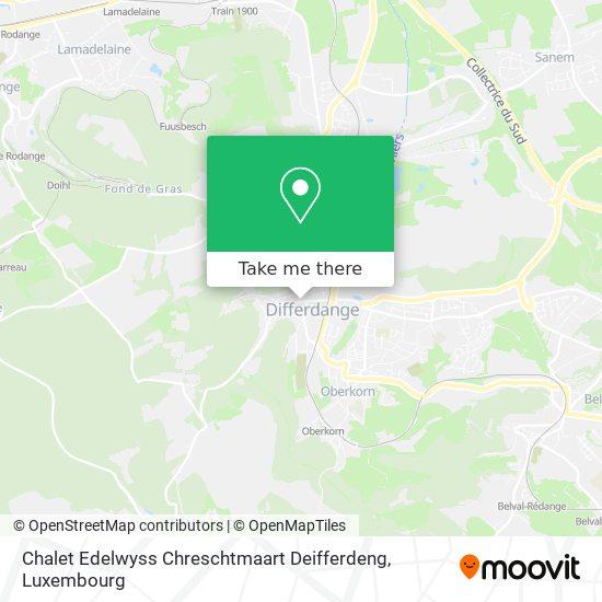 Chalet Edelwyss Chreschtmaart Deifferdeng map