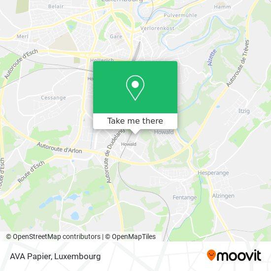 AVA Papier map