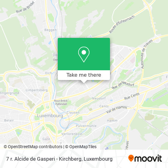 7 r. Alcide de Gasperi - Kirchberg map