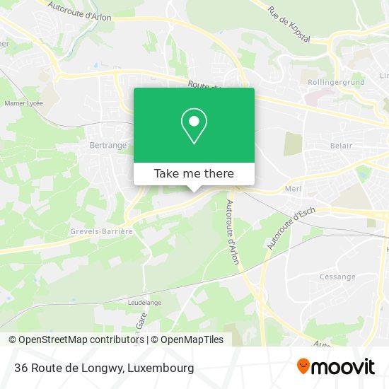 36 Route de Longwy Karte
