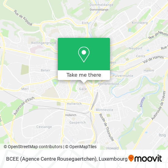 BCEE (Agence Centre Rousegaertchen) map