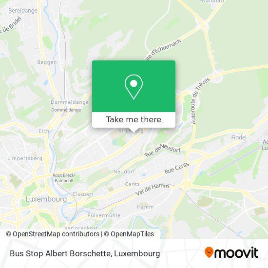 Bus Stop Albert Borschette map