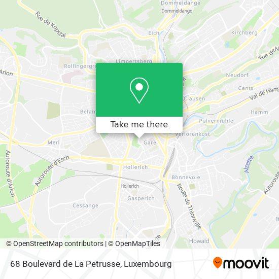 68 Boulevard de La Petrusse map