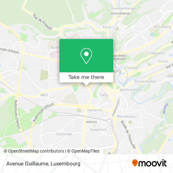 Avenue Guillaume map