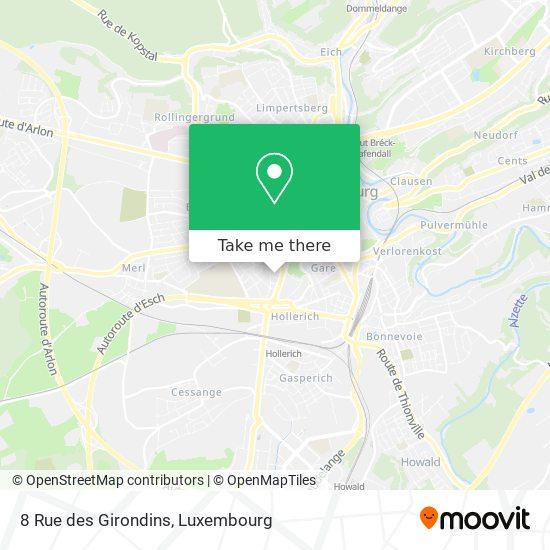 8 Rue des Girondins map