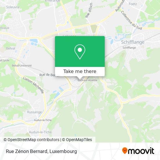 Rue Zénon Bernard map