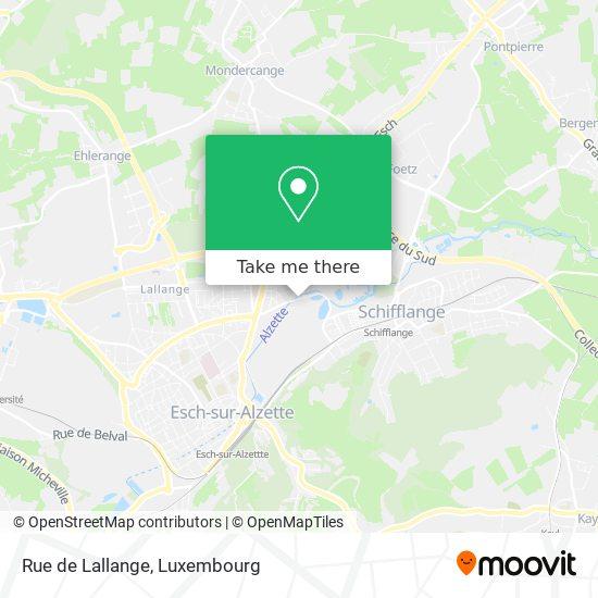 Rue de Lallange map